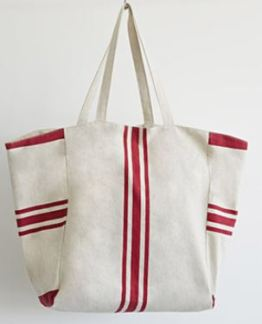 Forever 21 Striped Textured Cotton Tote
