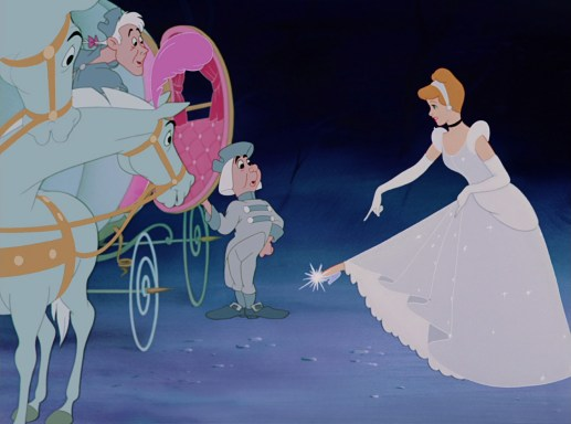 Cinderella and Friends Receive Help from the Fairy Godmother