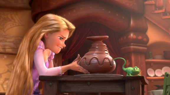 Tangled's Rapunzel and Friend Get Creative