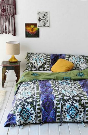 Urban Outfitters Magical Thinking Boho-Stripe Duvet Cove