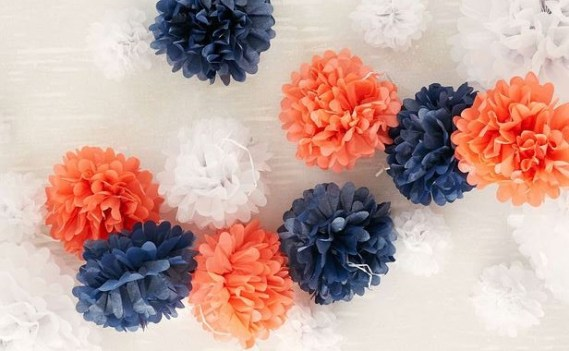 Urban Outfitters Dress My Cupcake Medium Tissue Paper Pompom Set