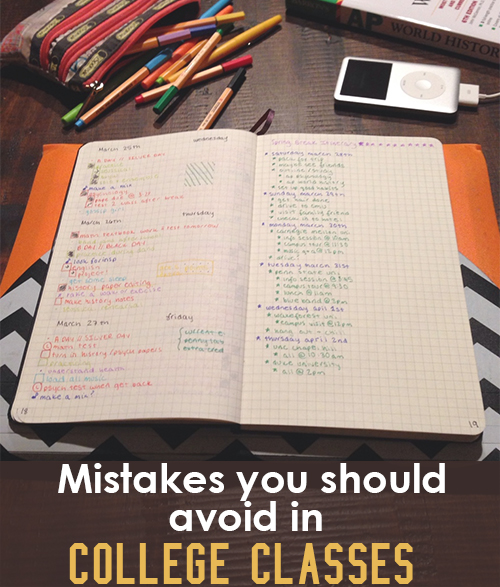 Mistakes to Avoid in College Classes