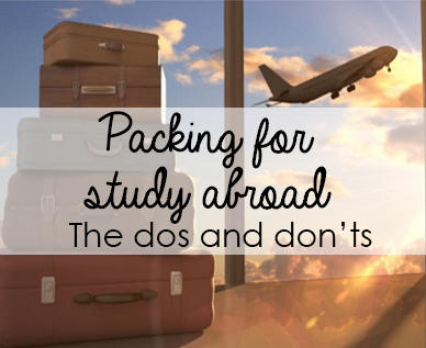 Packing for Study Abroad