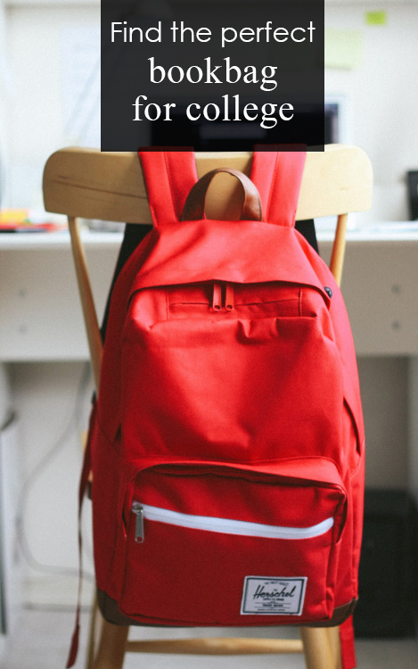 find the perfect bookbag for college pin