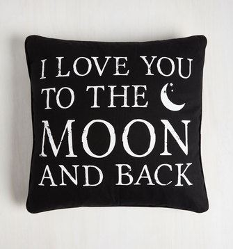 What You'll Need in Your First Apartment: modcloth intergalactic affection pillow