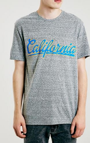 Grey Slubby Cali Slubby Crew T-Shirt