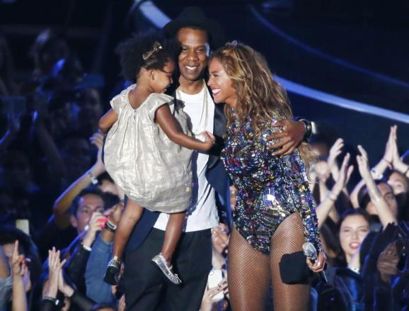 Jay-z Beyonce and Blue