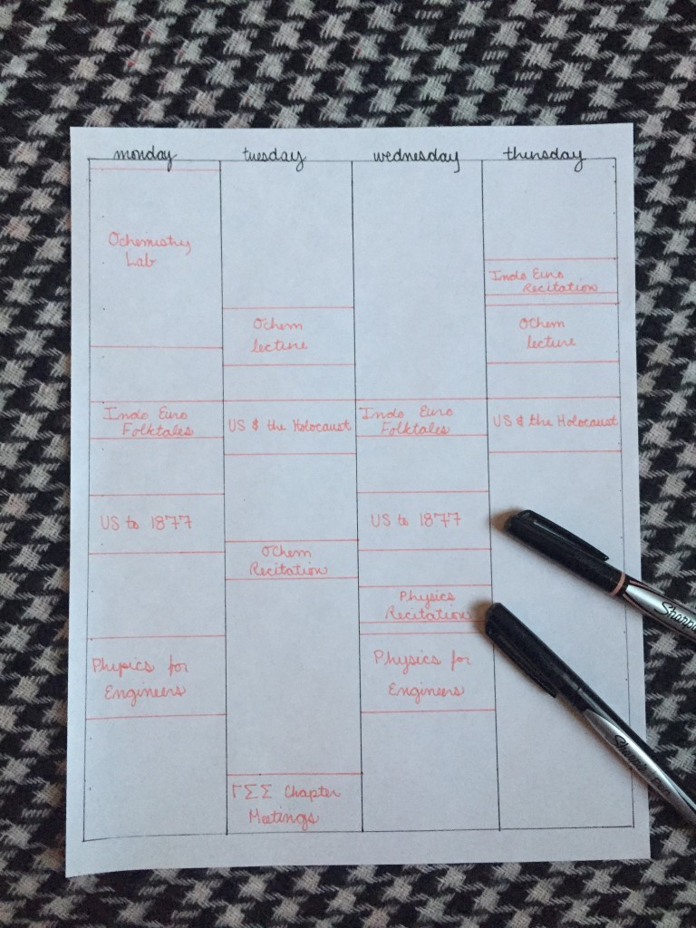 how to create a study schedule in onenote
