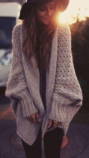 Fall sweaters you need in your closet this season - chunky cardigan