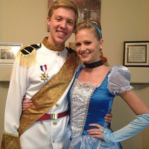Cinderella and Prince Charming is such a cute Disney couples Halloween costume idea!