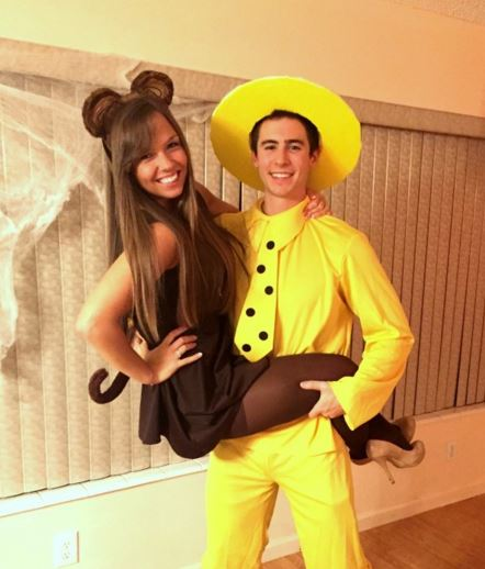 Curious George and the Man in the Yellow Hat is a unique couples Halloween costume idea!