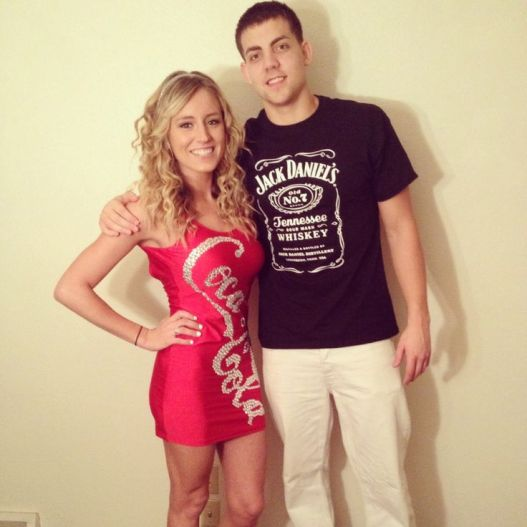 Jack and Coke is an easy couples Halloween costume idea!