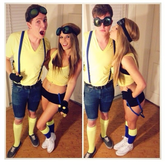 This minion costume is a great couples Halloween costume idea!