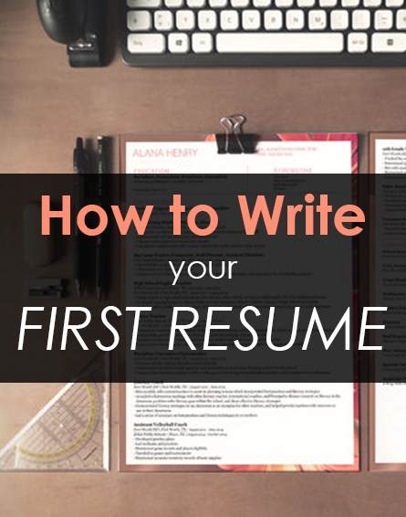 how to write your first resume It can be hard to find someone to help you get started with your resume, which is why i'm here below are a few tips on how to write your first resume.