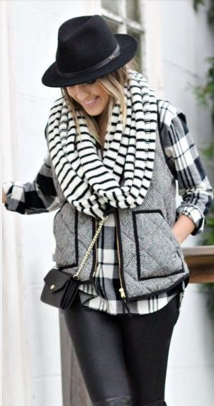 The puffer vest is a huge trend this season.