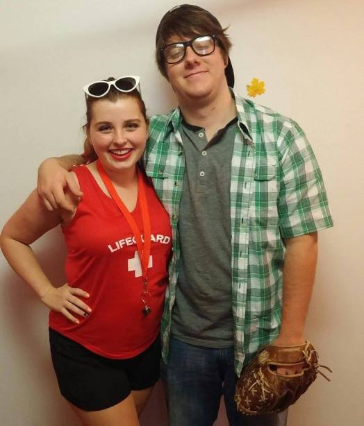 Wendy Peffercorn and Squints is a funny couples Halloween costume idea!