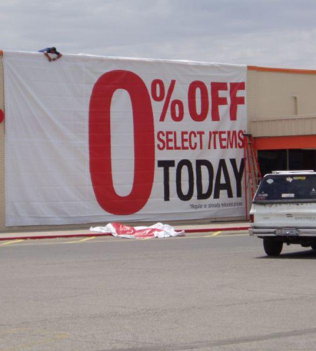 no sale sign