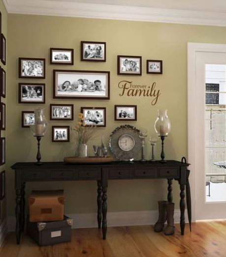 This family frame display for the house is so cute