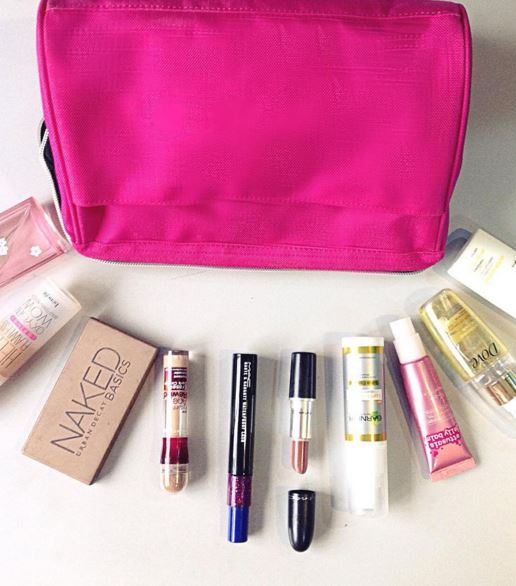For make-up, do not go too crazy, use your basics and versatile products.