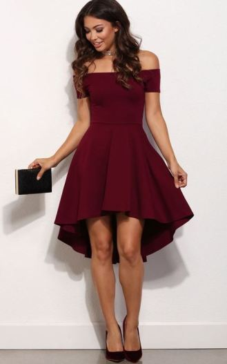 I love this fit and flare style holiday party dress!