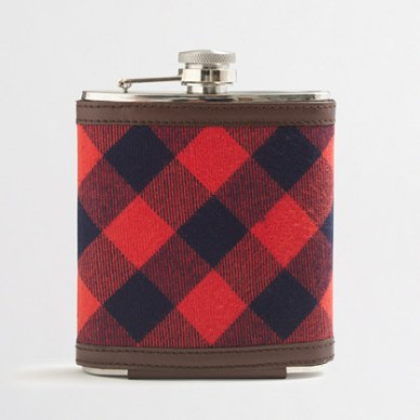 Plaid is in, so get him a plaid flask!