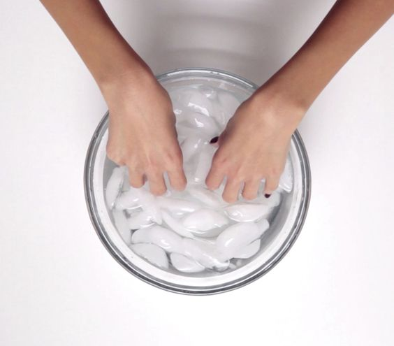cold water dries your nails faster