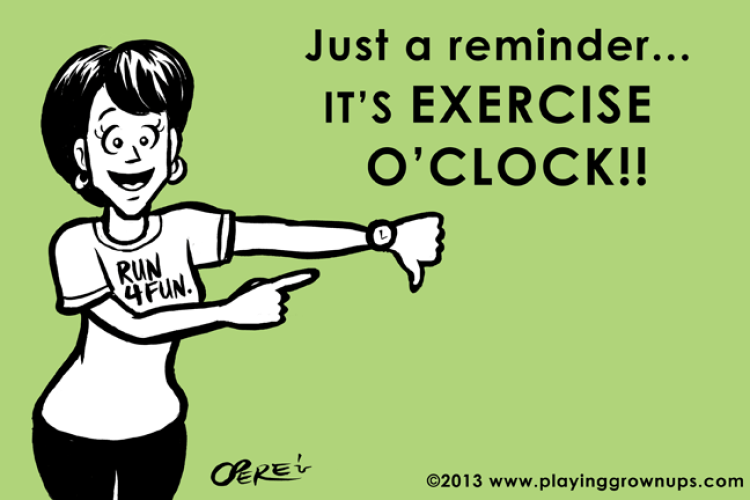 make time to exercise!