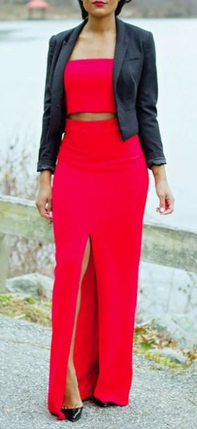 Sequel Red Two-Piece Dress