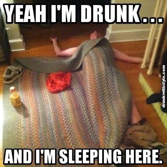 drunk sleep meme