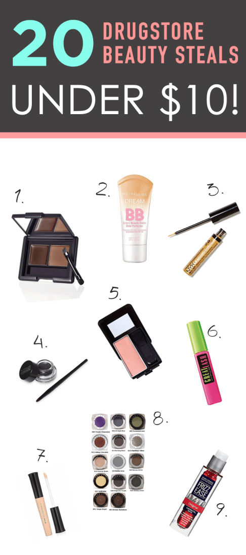 20 Drugstore Beauty Steals Under $10