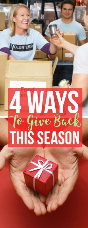 4 Ways To Give Back This Season - Society19