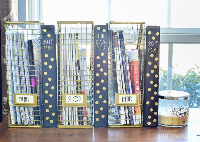 use magazine holders on your desk