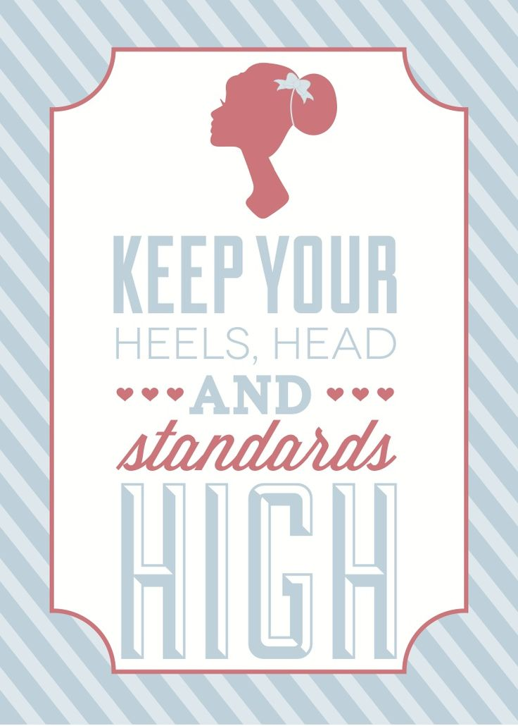 Live up to high standards