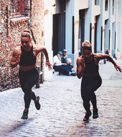This duo will inspire you and a friend to hit the gym ASAP!