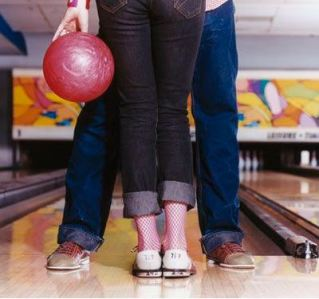 bowling is a cute date idea!