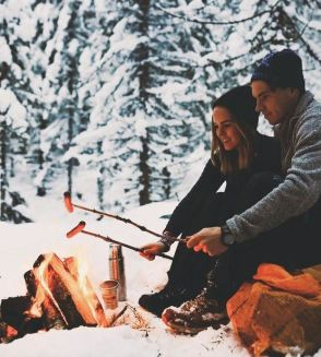 going camping is a cute date idea!