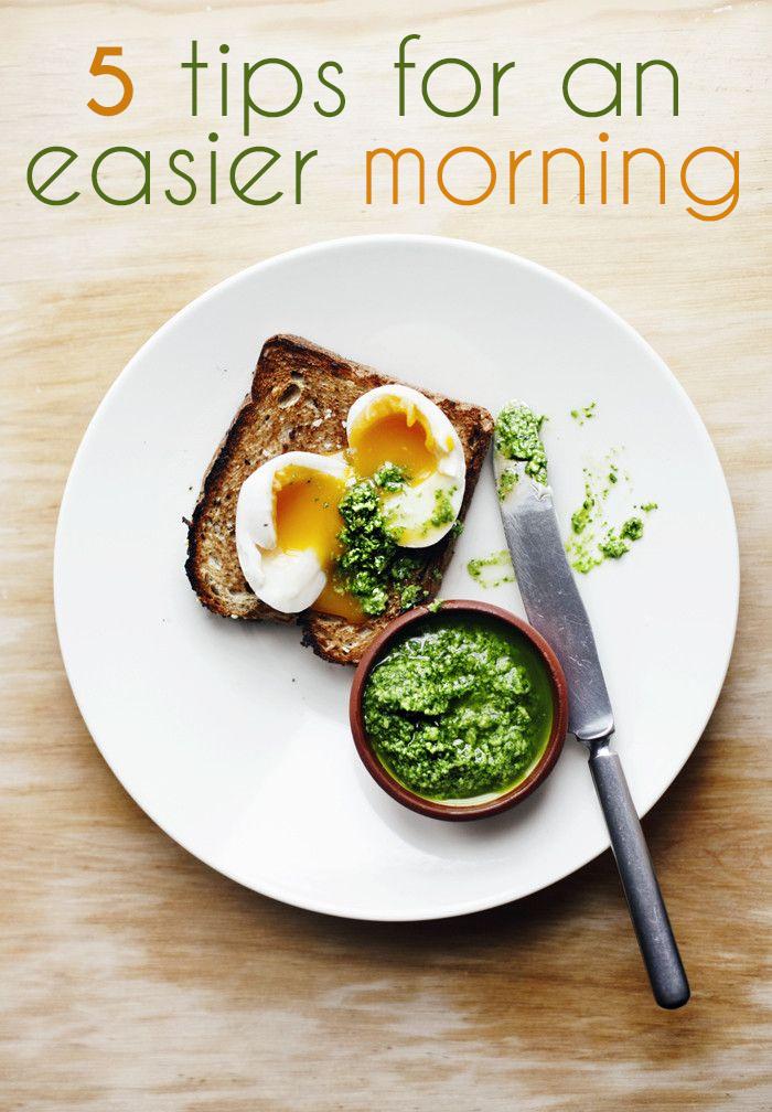 5 Tips for an Easier Morning
