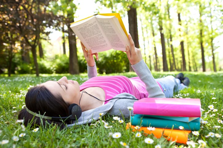 Get some fresh air and study in the park