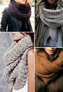 these winter infinity knit scarves are perfect!