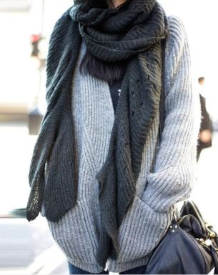 This knit scarf is perfect for winter!