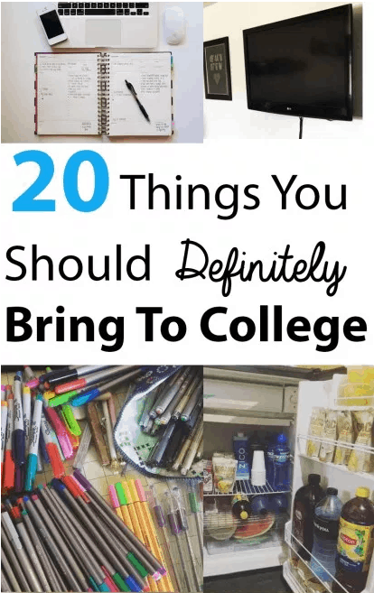 Here are 20 Things You Should Definitely Bring To College