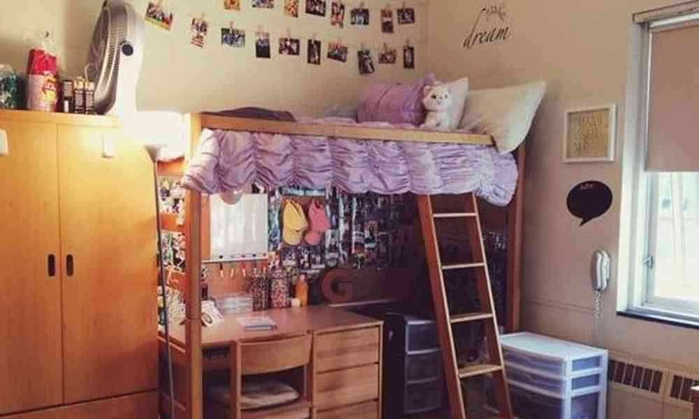 Dorm room hacks decor with good decor taste. These dorm room hack ideas and tips will make your dorm room space more livable and less cluttered!