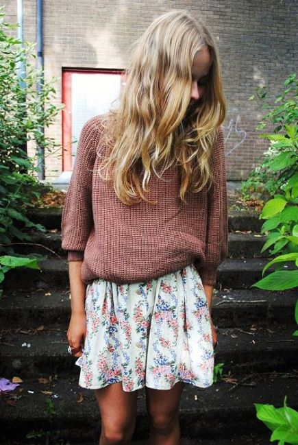 Sweaters and skirts are perfect Easter outfit ideas!
