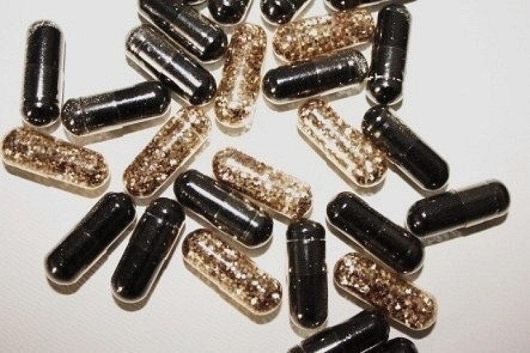 cool sparkle filled pills