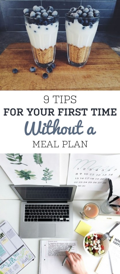Here's some tips for your fist time without a meal plan!