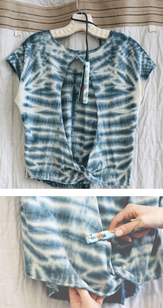 Use a straightener to iron your clothes!