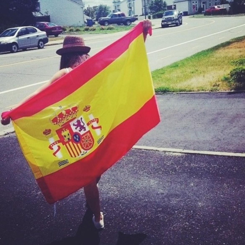 cute Spanish flag