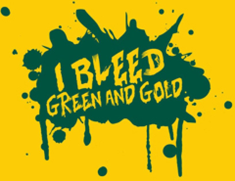 bleed green and gold