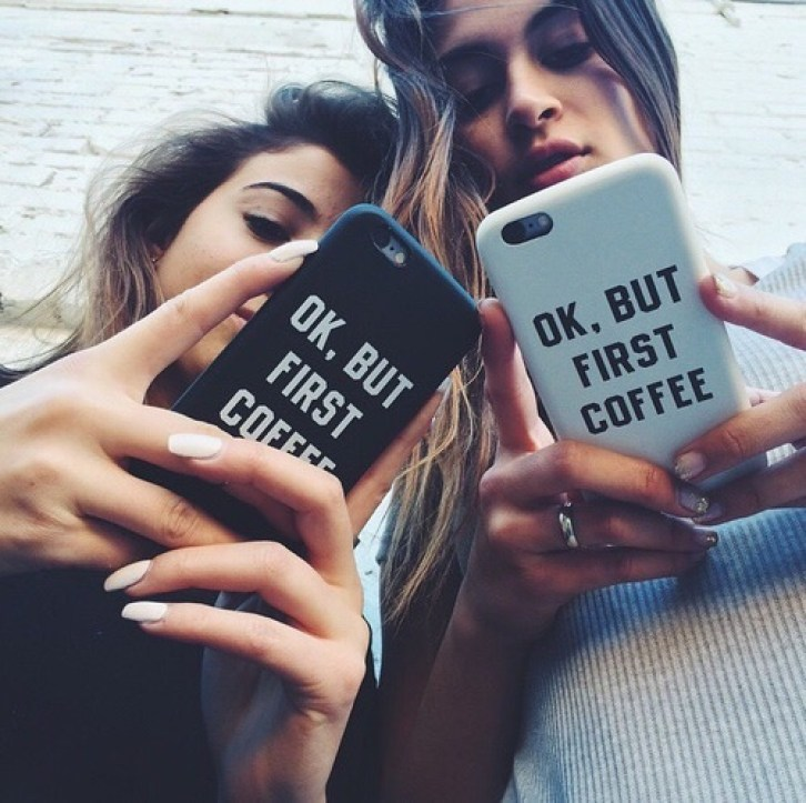 cute coffee phone case