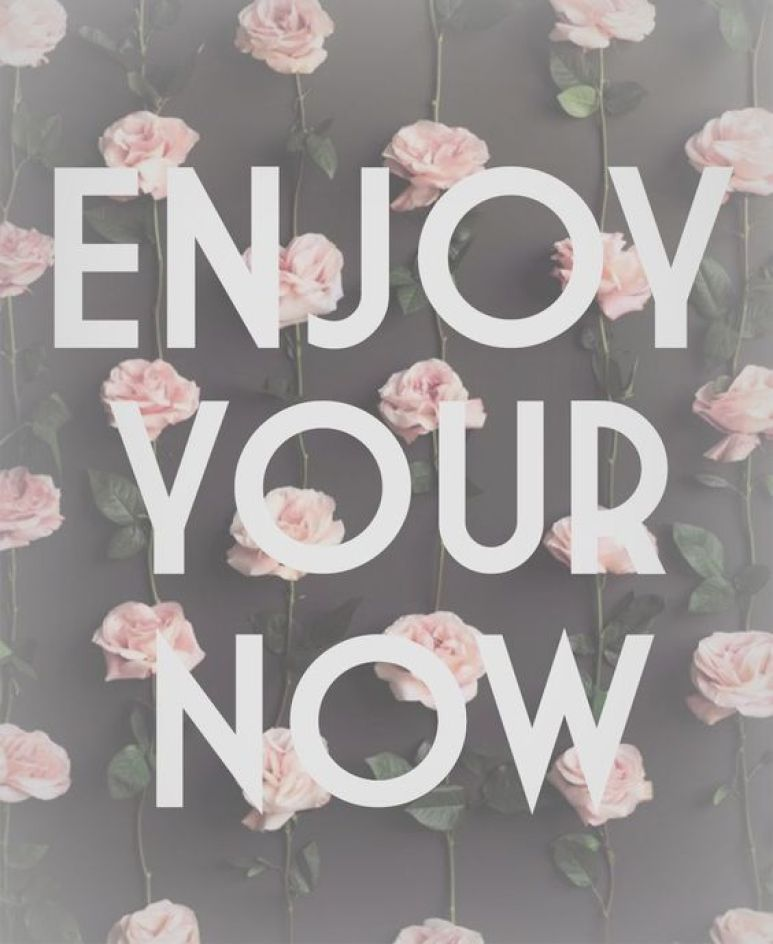 cute enjoy your now canvas with flowers